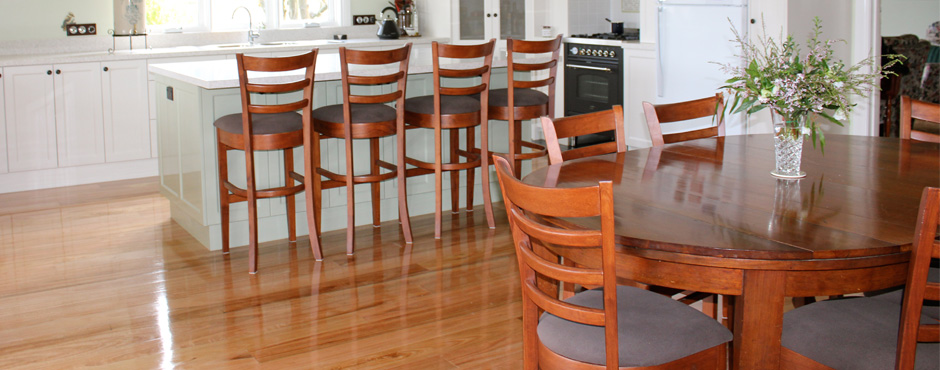 Exceptional quality, solid timber flooring.